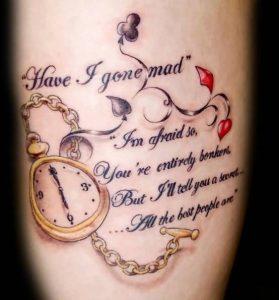 wrist-watch-with-literary-tattoo-design